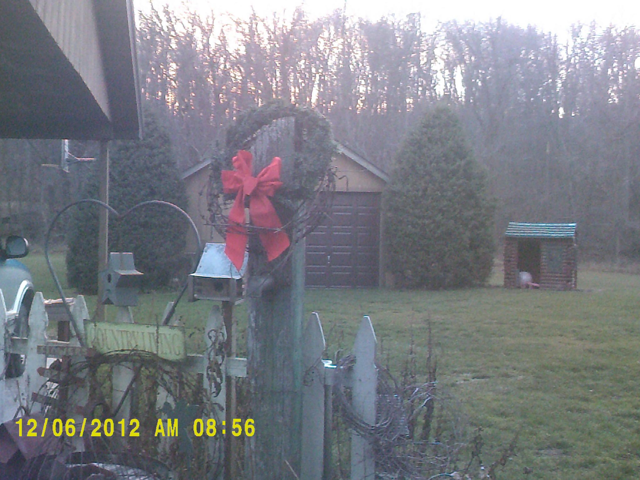 My old wooden pump all decked out for Christmas last yr.