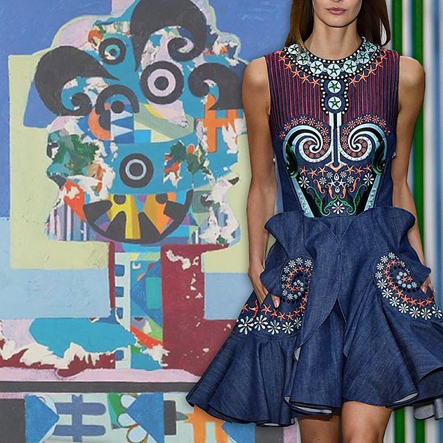 Surrealism is a continuing inspiration on the runways. Holly Fulton was inspired by Eileen Agar.