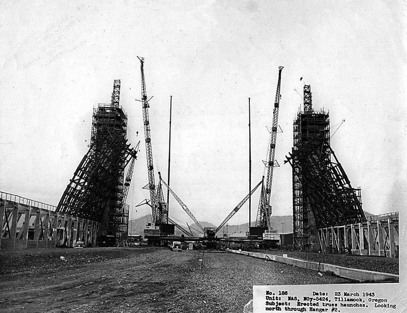 Early Construction at Naval Air Station (NAS) Tillamook in