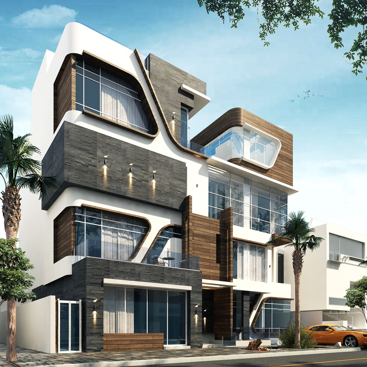 Villa By Mo'men Gamal. Software: Vray, Autodesk 3ds Max