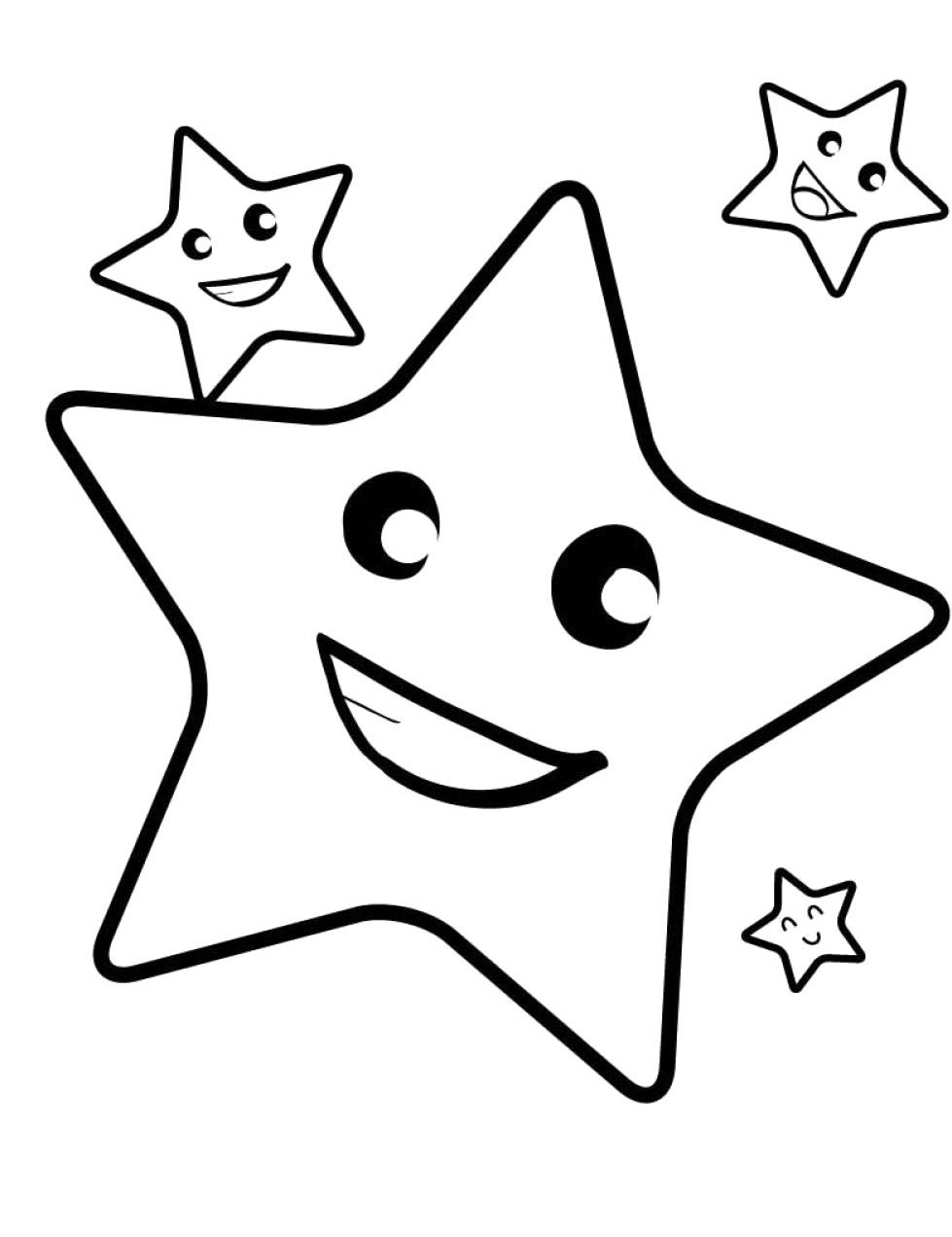 Christmas Star Smile And Always With The Other Star Coloring Page