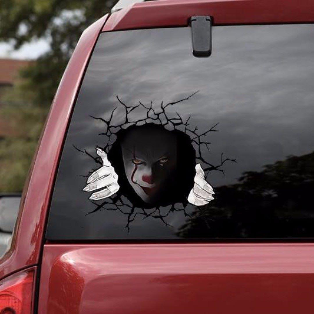 Pennywise Clown Stephen King Vinyl Decal Car Window Bumper Sticker