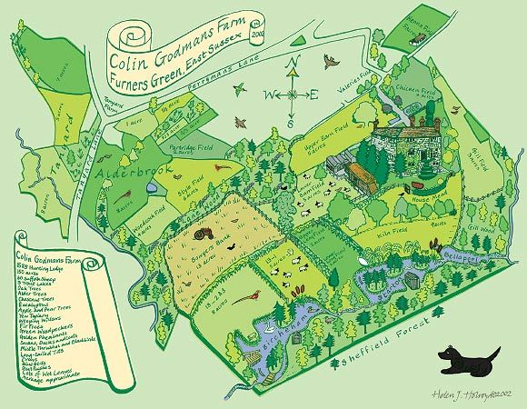 Map illustration of Colin Godmans Farm