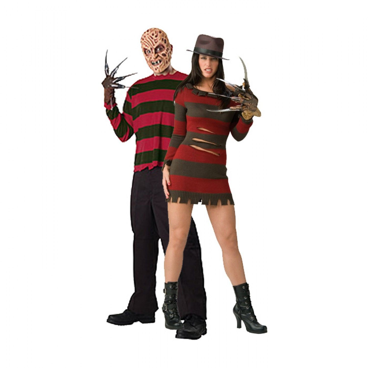 freddy and misses freddy krueger matching couples costume