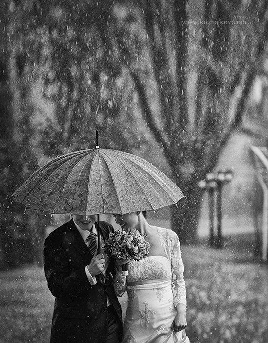 Regen Die beiden haben nichts mitbekommen Hochzeit