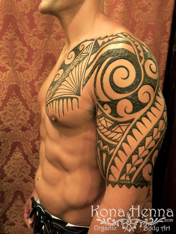 Henna Tattoo For Guys: Kona Henna Studio - Chests Gallery
