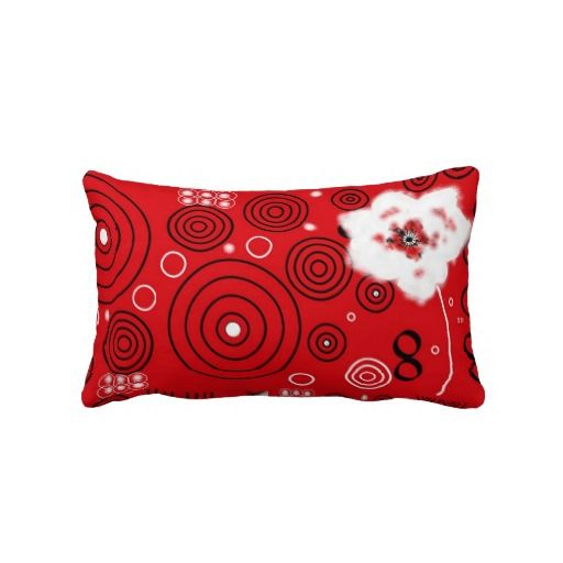 Rot-Weiß-Schwarz-Kreation, Kissen lang