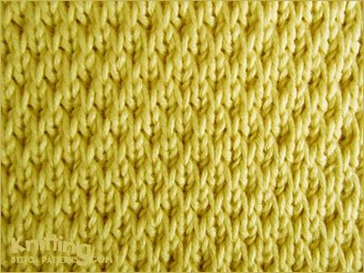 Textured Knitting : The long slip textured is no common stitch this pattern creates a