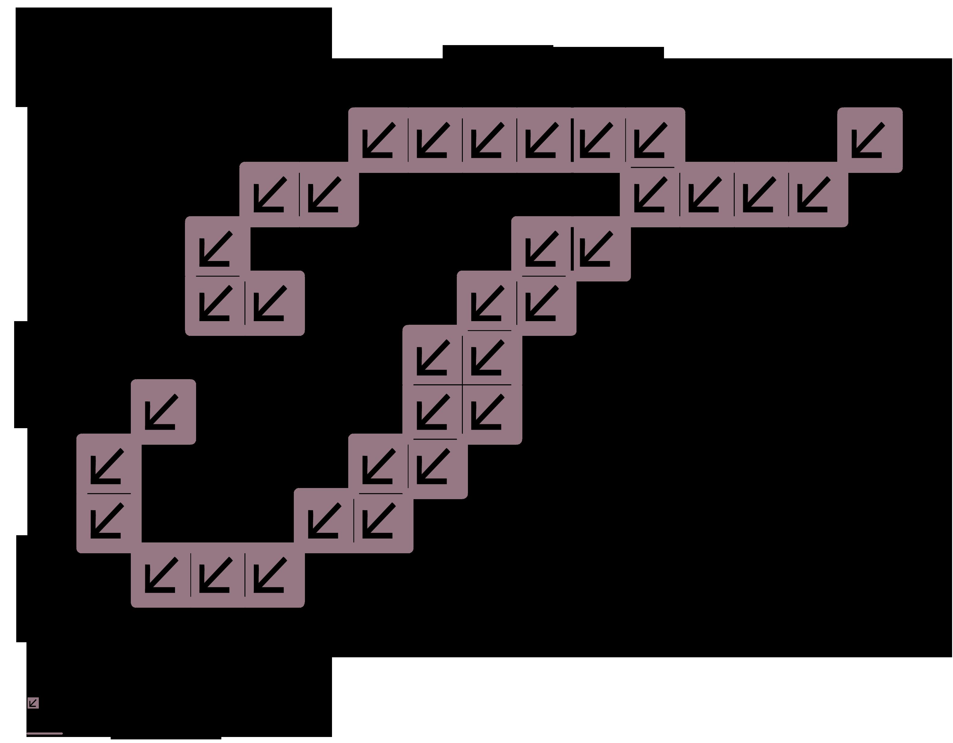 alfabeto maiuscolo corsivo: T