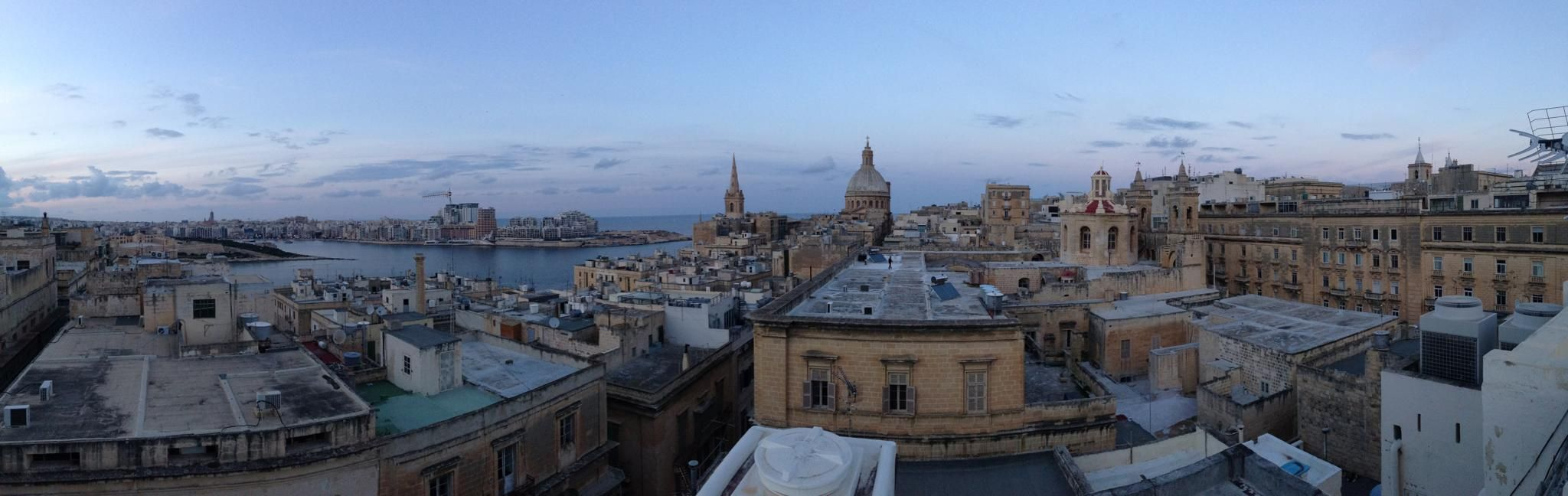 View from our new school in Valletta, Malta