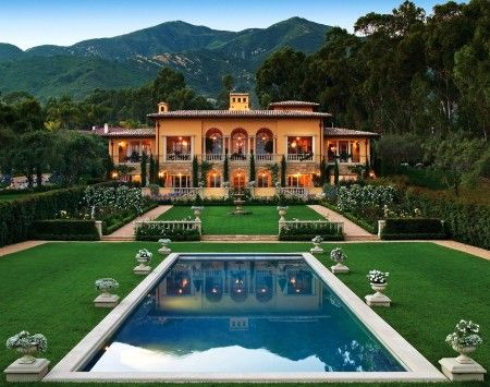 Custom Dream Homes Villa Beaumont An Italian Renaissance Country In Santa Barbara By Sorrell Design Based On The Work Of Great 16th Century