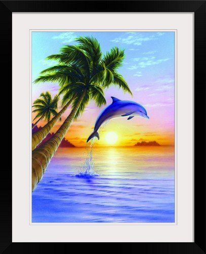 GreatBIGCanvas Morning Dolphin by Robin Koni Photographic Print with ...