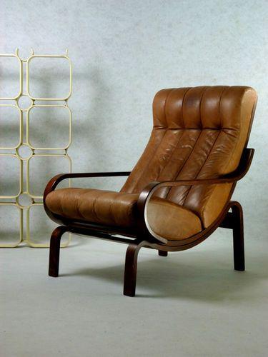 70s Ledersessel Loungesessel Vintage Retro Sessel Leder Chair