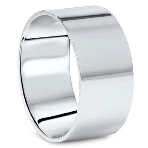 10mm Platinum Flat Comfort Fit Wedding Band Mens High Polished Ring Rings Mens Wedding Bands Plain Wedding Band White Gold Wedding Bands