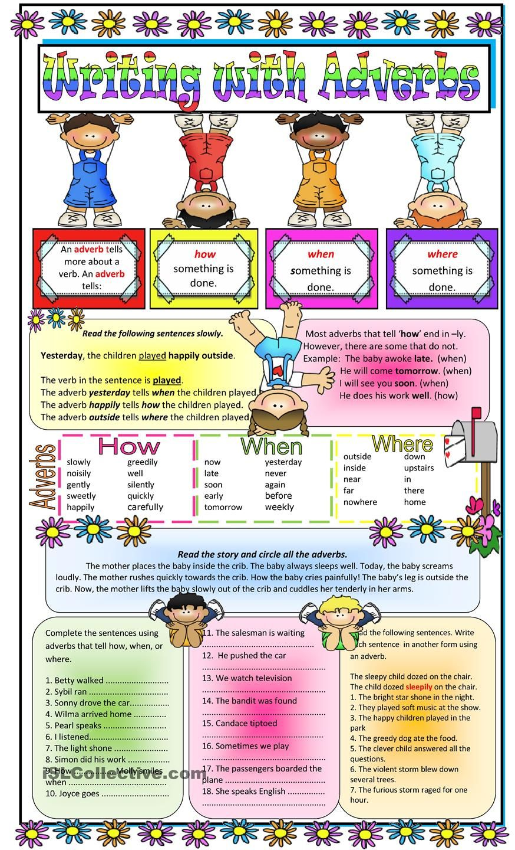 Adverbs Adverbs Teaching English Grammar Adverbs Worksheet
