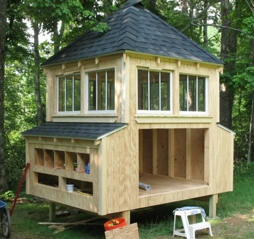 The royal version of the chicken coop!
