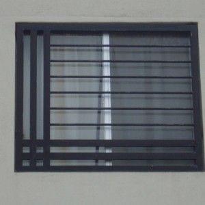 Rejas de ventana modernas fabricadas con rejas de hierro Puertas corredizas seguras