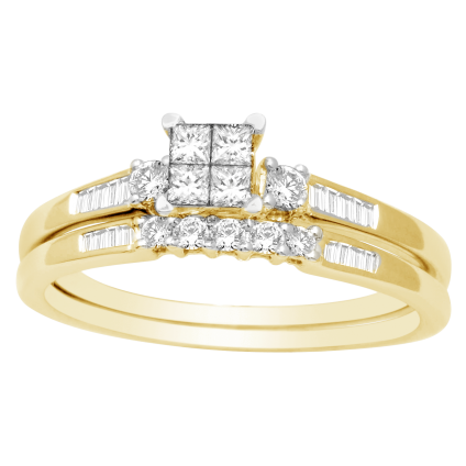.50 tcw Women's Diamond 2Piece Bridal Set in 10k Yellow