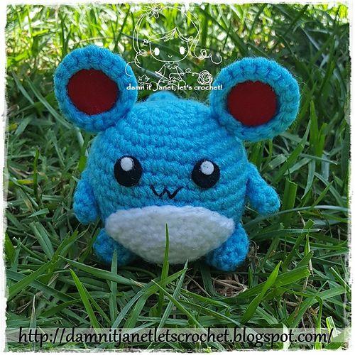 Ravelry: Chibi Marill (pokemon) pattern by Janet Carrillo ...