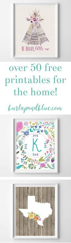 free printables for the home {over 50 home, nursery, and kitchen printables!} #50freeprintables