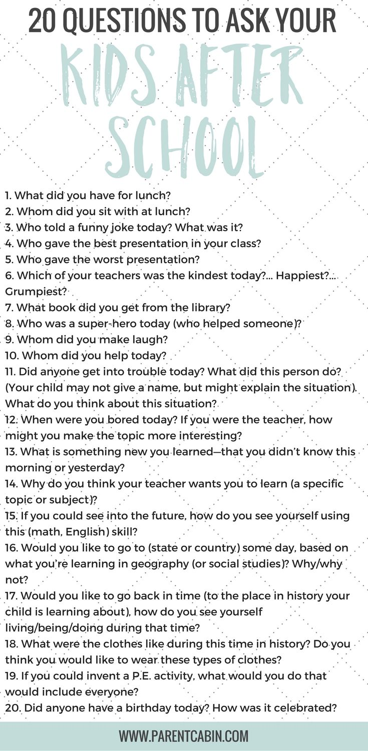 Good 20 questions to ask