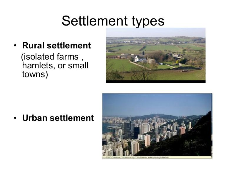 Settlement Types Di By Gines Garcia Via Slideshare Type Small