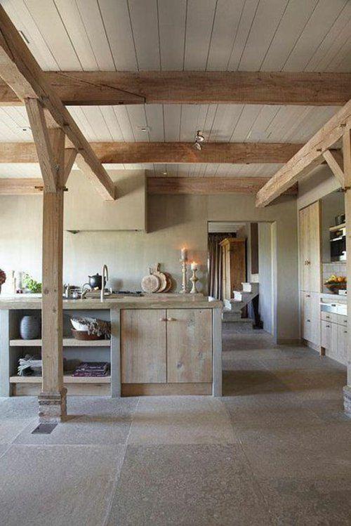 küche aus holz massivholz robust konstruktion  home  Pinterest