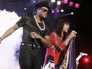Run Dmc And Aerosmith Perform Walk This Way In 1987 Aerosmith Run Dmc Mtv