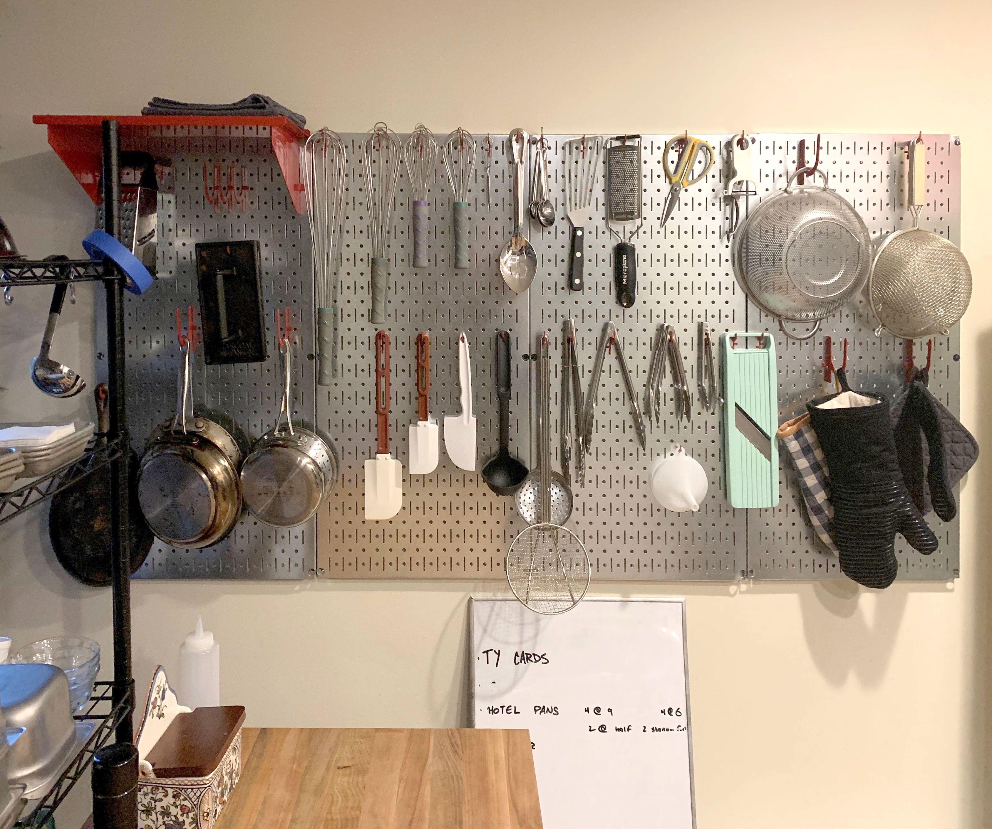 67 Kitchen Pegboard Ideas In 2021 Pegboard Kitchen Peg Board Metal Pegboard