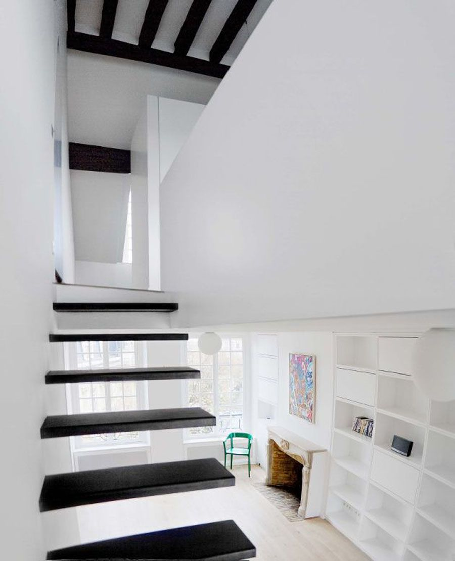 Awesome Best Sample Natural White And Black Apartment Interior