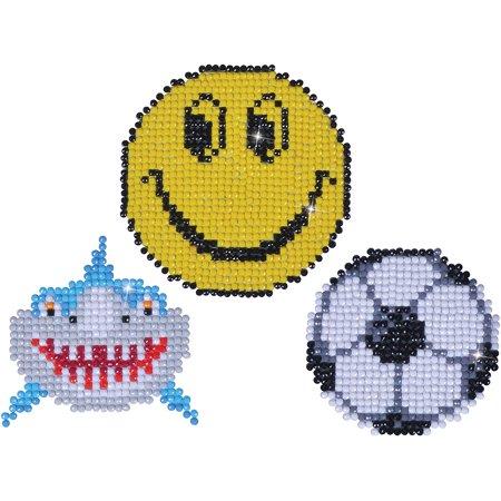 Diamond Dotz Diamond Magnets Facet Art Kit Assorted Smile 3 Pkg