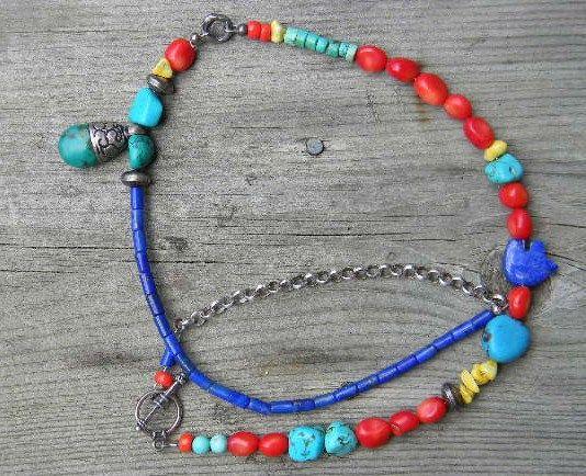 19 Summer Splash Necklace by juRnE on Etsy, $45.00