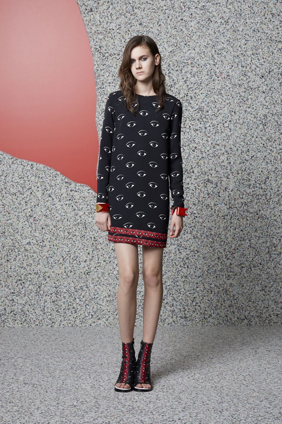 Kenzo All Over Eye Print Dress Women E
