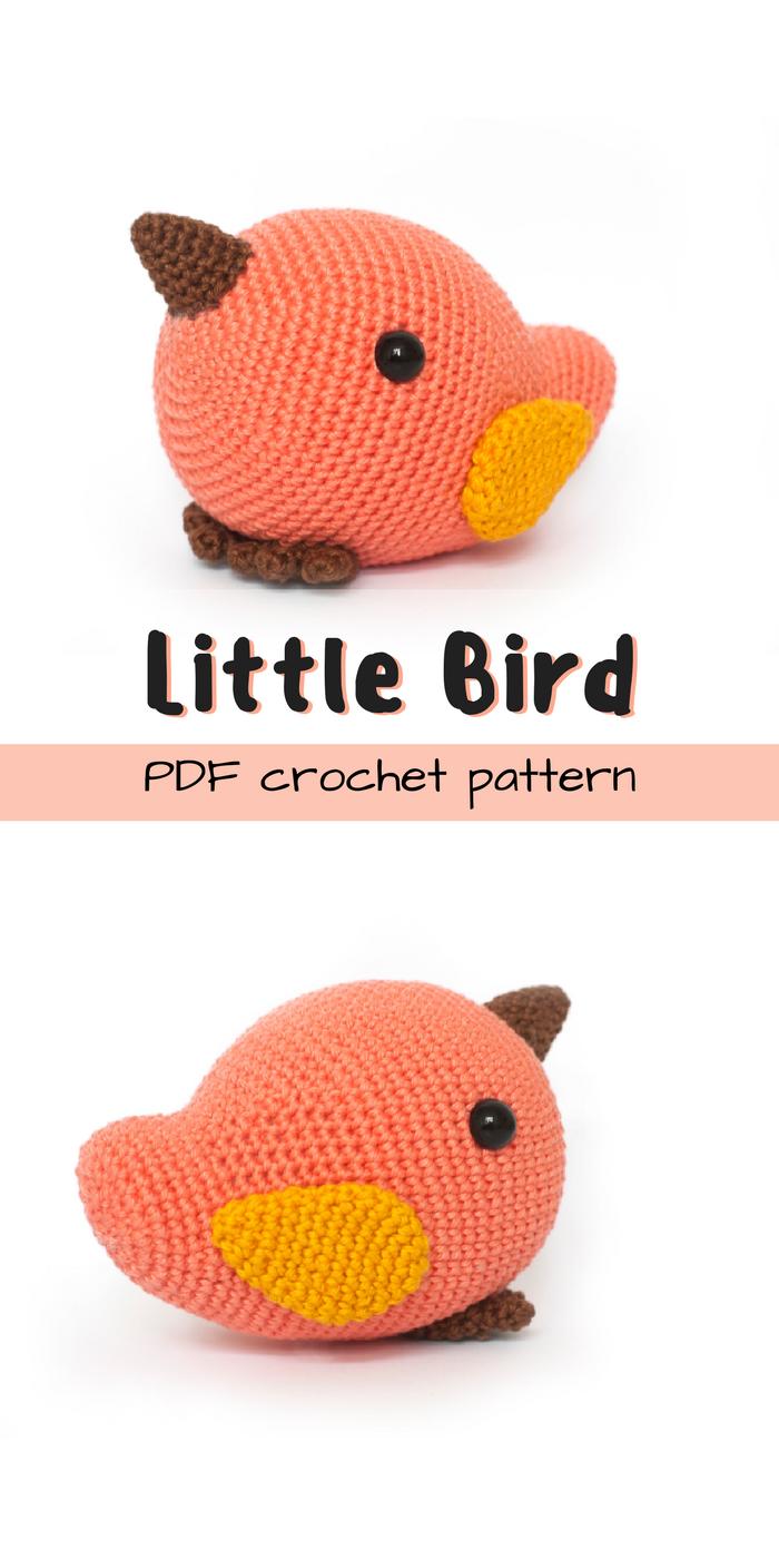 How to Crochet a Bird | Crochet birds, Crochet patterns amigurumi ... | 1400x700