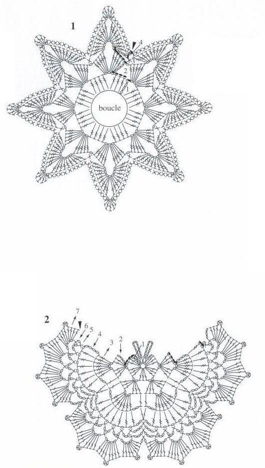 mariposas | Gwiazdki na szydełku | Pinterest | Mariposas