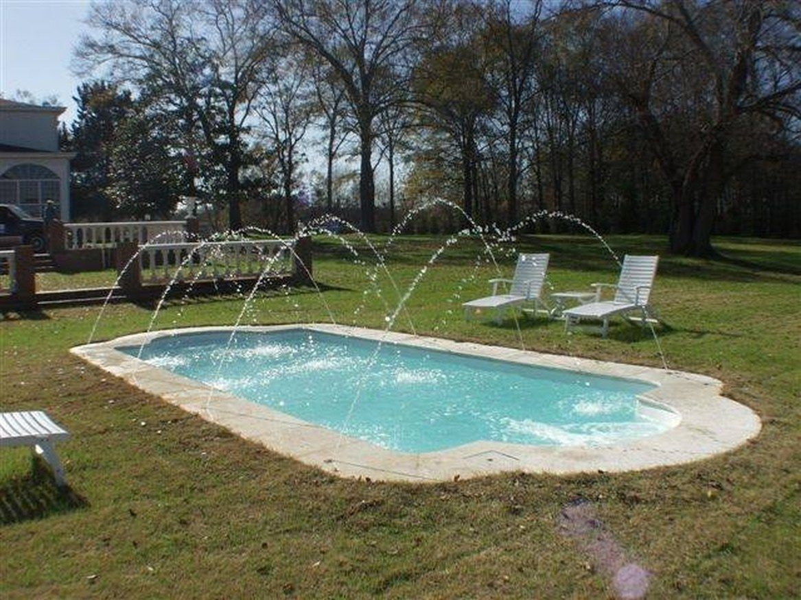 Swiming Pools Fiberglass In Ground Pools With Pool Deck