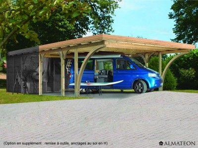 Carport En épicéa Pour 2 Voitures, De 3072 M² Modèle  Premium
