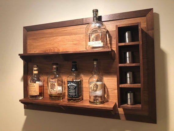 wall hanging liquor display etsy