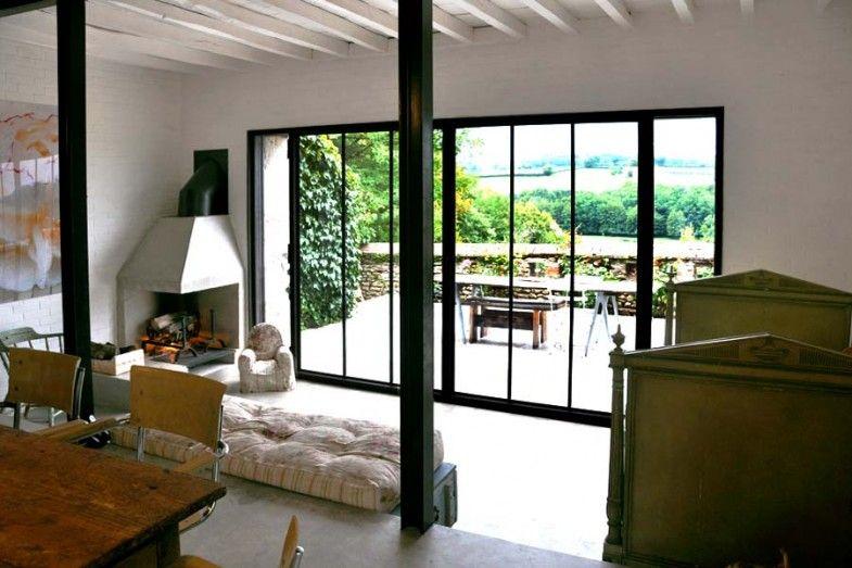 D coration maison de campagne en bourgogne maisons de for Baie style atelier