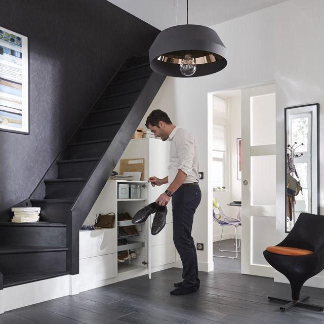 escalier 1 4 tournant gauche normandie sapin castorama petites cuisines pinterest. Black Bedroom Furniture Sets. Home Design Ideas