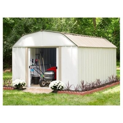 Lexington 10 X 14 Steel Storage Shed Arrow Storage Products Eggshell Durable Steel Storage Sheds Shed Roof Storage