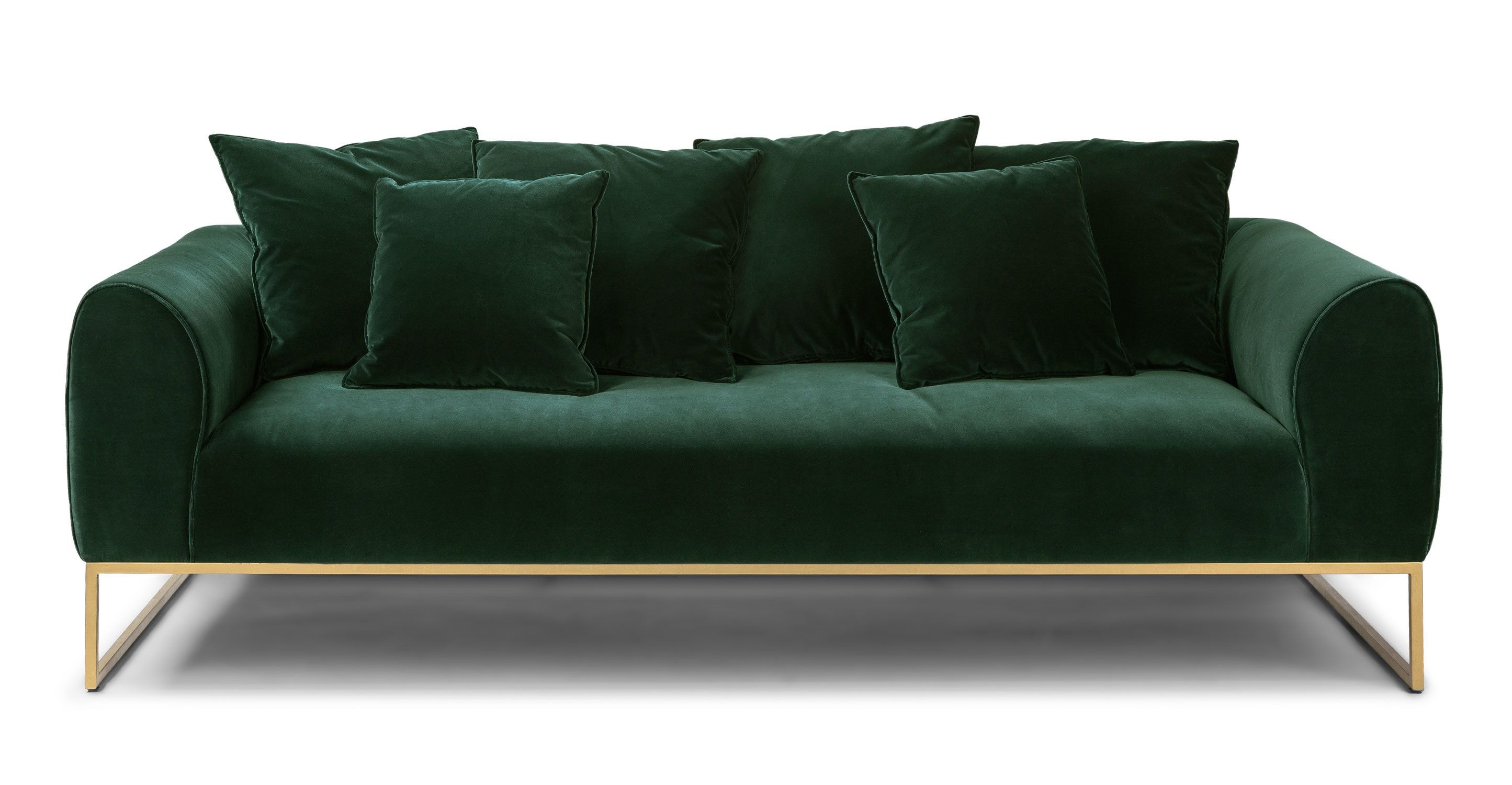 Kits Balsam Green Sofa In 2020 Green Sofa Sofa Green Velvet Sofa