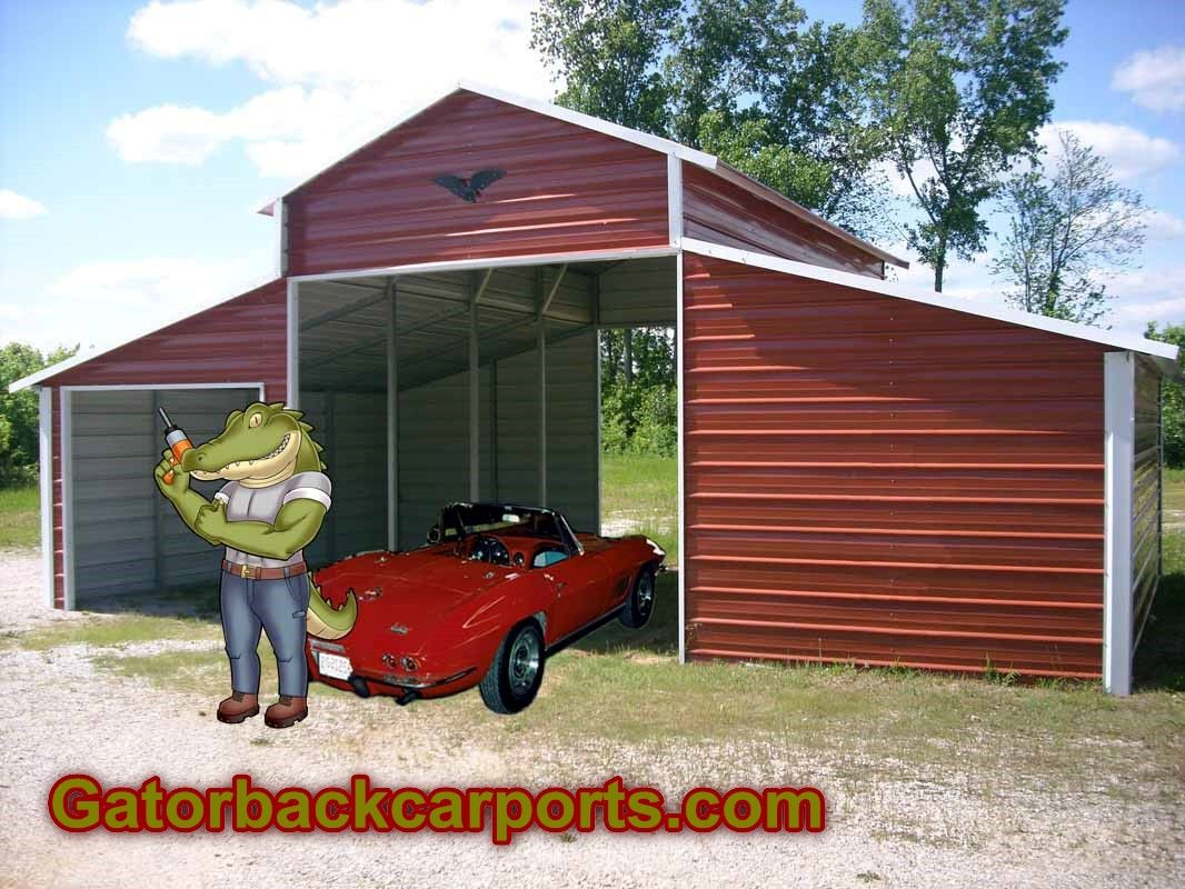 Home Page Gatorback CarPorts Steel garage buildings