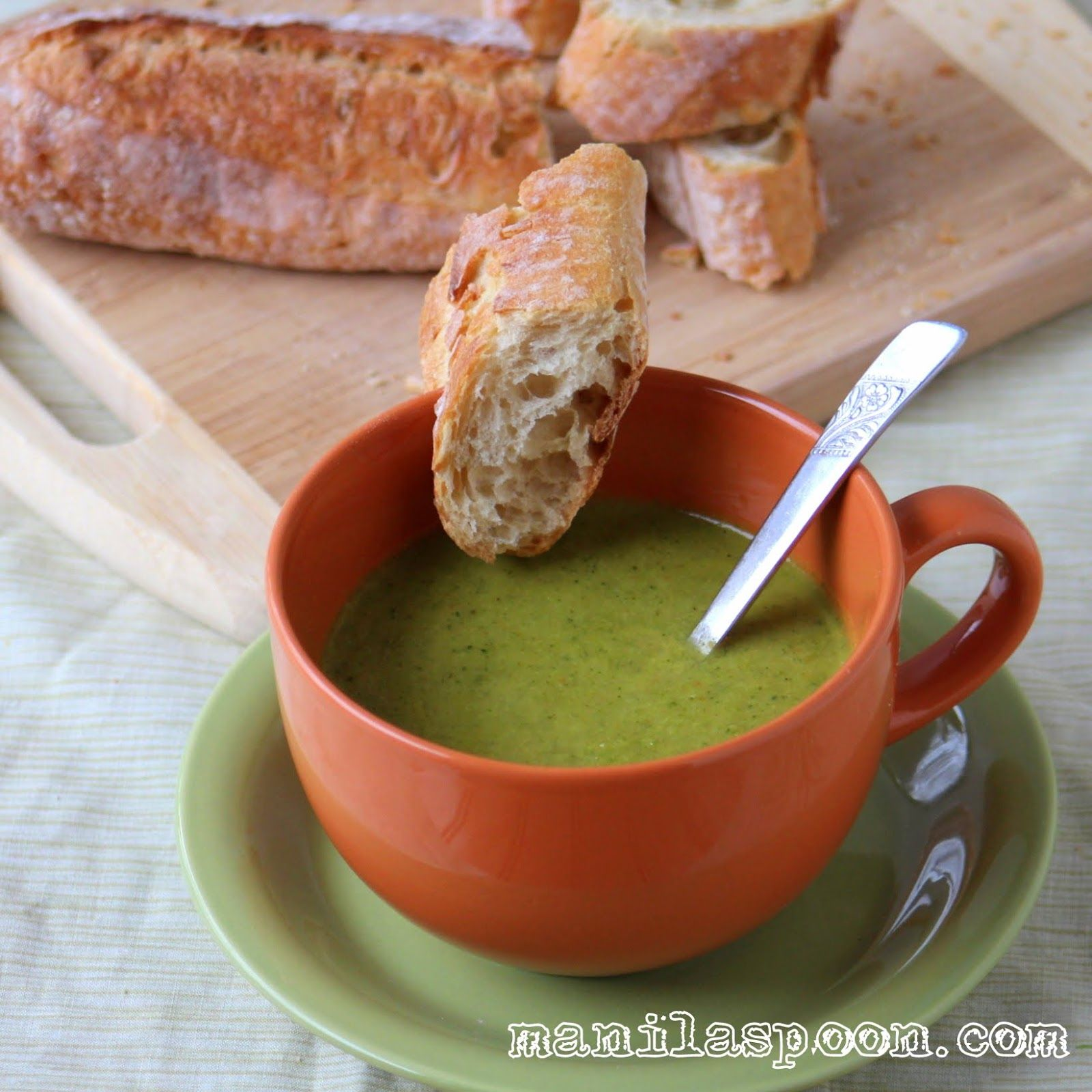 Manila spoon broccoli soup food ive made and would make again no milk or cream used here but this healthy broccoli soup is thick and delicious gluten free fall and winter perfect too forumfinder Images