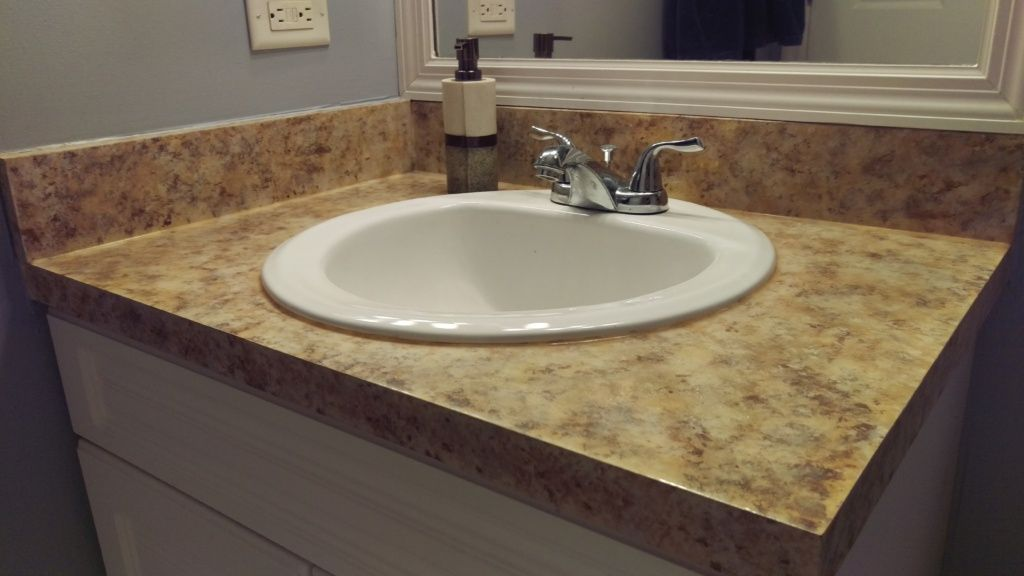 Get the Granite Look with this Faux Granite Counterop Tutorial