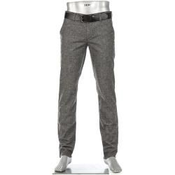 Photo of Alberto herre chino bukser Lou, vanlig slim fit, bomull, stålgrå flekkete Alberto