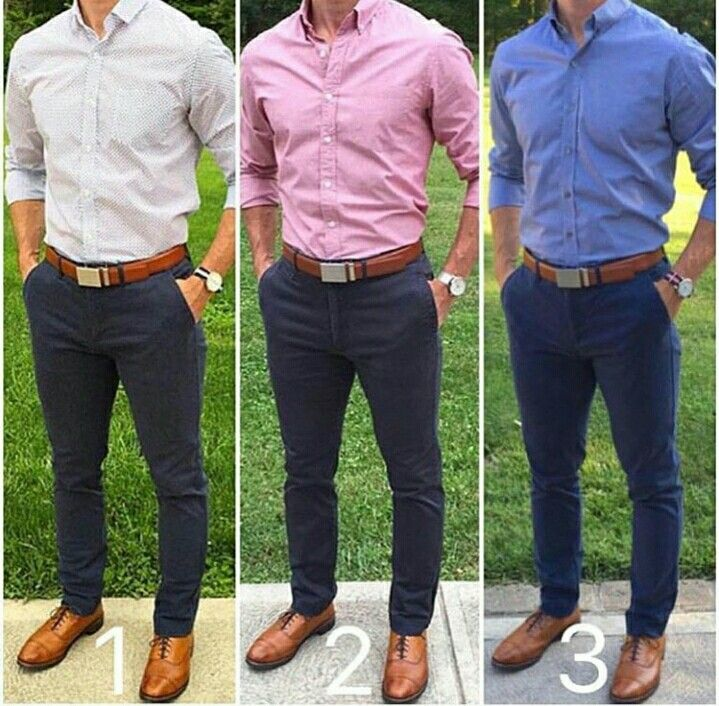 c0a3ef8766 Which color shirt  I think they all work! Navy Blue Chinos