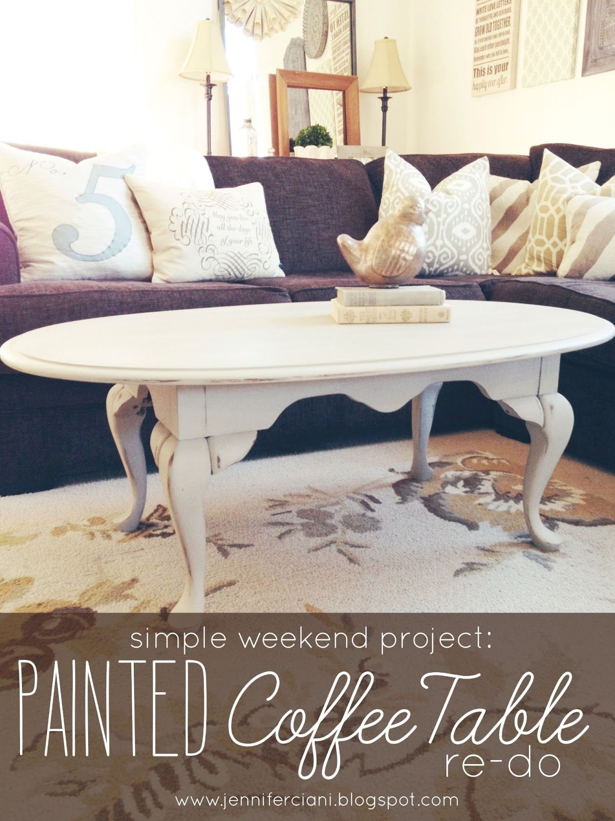 Simply Ciani Antique Grey Coffee Table painted coffee table re