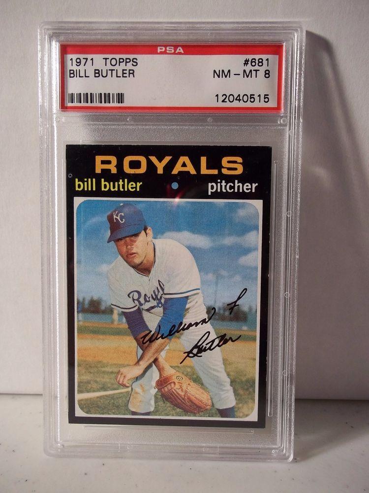 1971 topps bill butler psa graded nmmt 8 baseball card