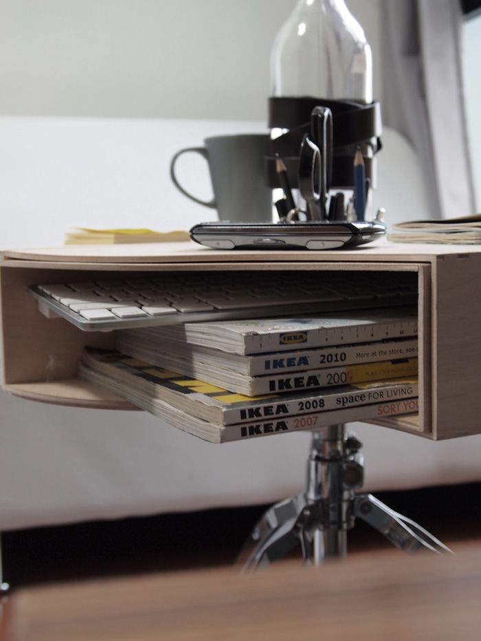 love this ikea hack. knuff paper storage boxes converted into a